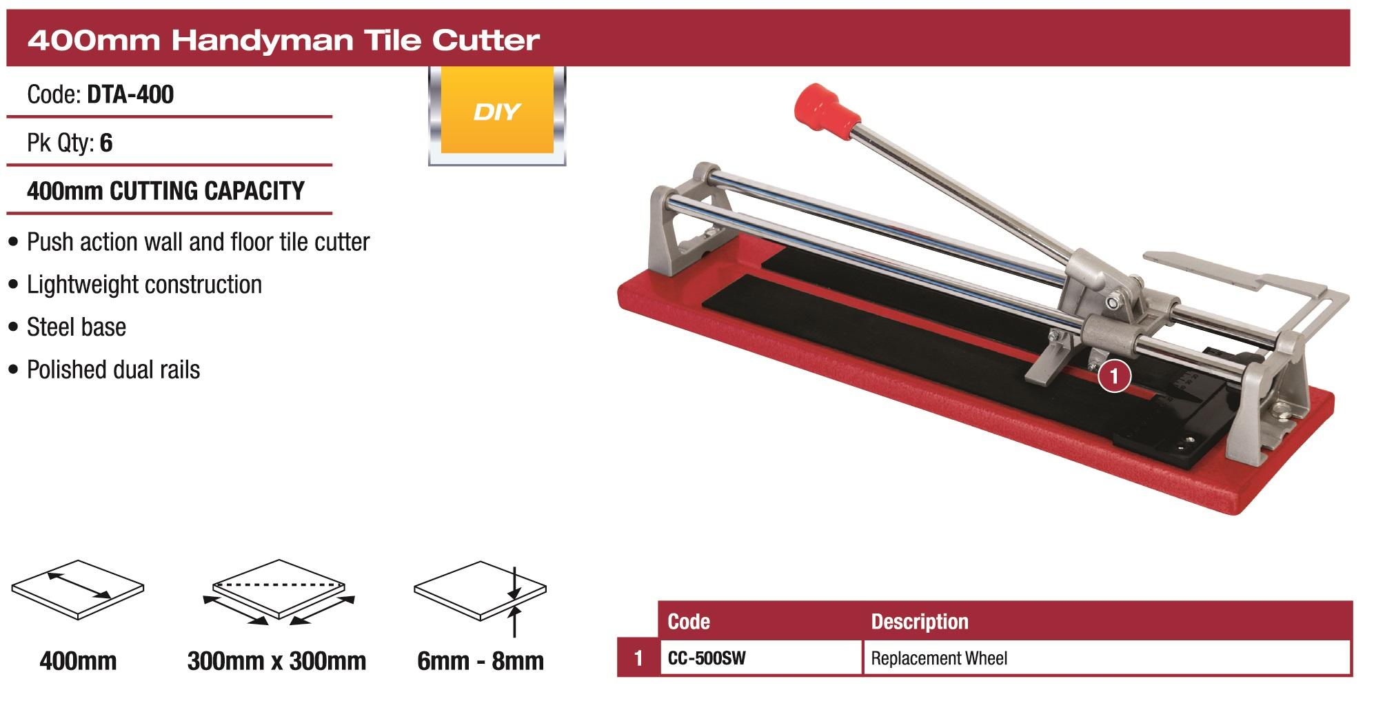 Dta Australia 400mm Econ Tile Cutter