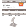 WLS250 - WEDGE LEVELLING SPACER 1.5mm