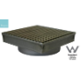 FLDR110GR-45 - FLOOR DRAIN S/STEEL 110X110mm